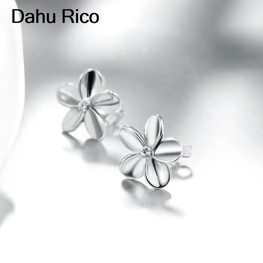 67f403b87 pendientes flor flower korean fashion online shopping india unicorn earrings  jewelry gold color Dahu Rico stud earrings-in Stud Earrings from Jewelry ...
