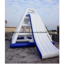 야외 상업 거 대 한 풍선 물 공원 슬라이드 풍선 슬라이드 부동 판매 사용