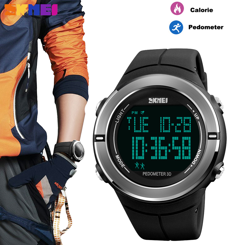 SKMEI Brand Sports Watch Men Fashion Pedometer Calorie Waterproof Clock Military Electronic Digital Wristwatches Reloj HombreSKMEI Brand Sports Watch Men Fashion Pedometer Calorie Waterproof Clock Military Electronic Digital Wristwatches Reloj Hombre