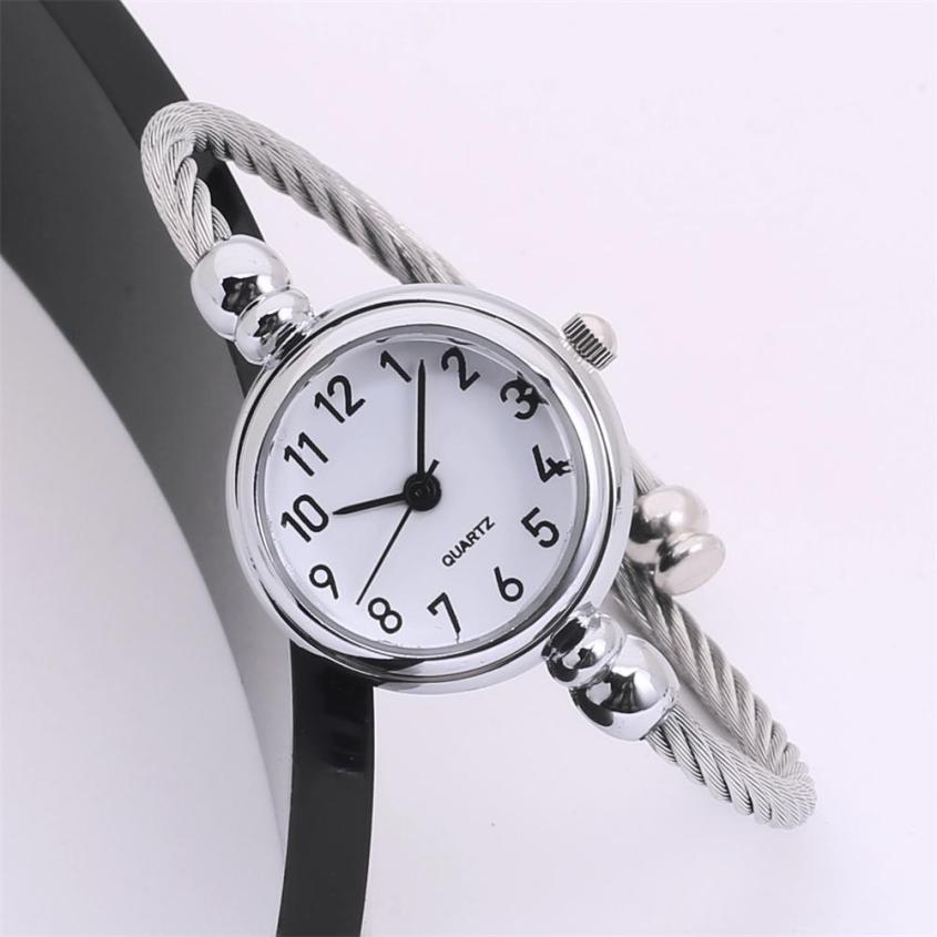 Mirror Bracelet Girl Circular 2018 Ladies Simple Beautiful Analog WristWatch Temperament Souvenir Fashion Women's Watches #D
