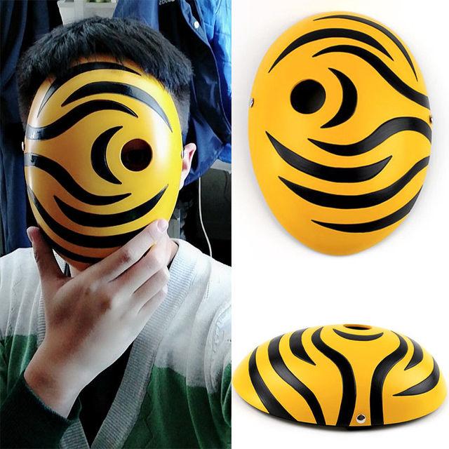 Naruto Shippuden Tobi Máscara Cosplay (2 Colores)
