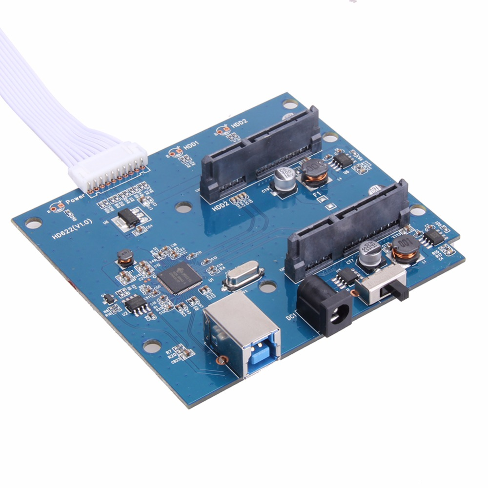High Quality USB 3 0 to Dual SATA Adapter Card for 2 5 or 3 5inch