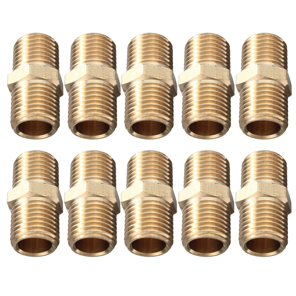 10pcs New Gold Air Line Hose Connector Euro Fitting Quick Release Set with 1/4 BSP Male Thread Mayitr 6pcs mayitr air line compressor connector euro fittings quick release coupling set with 1 4 bsp thread