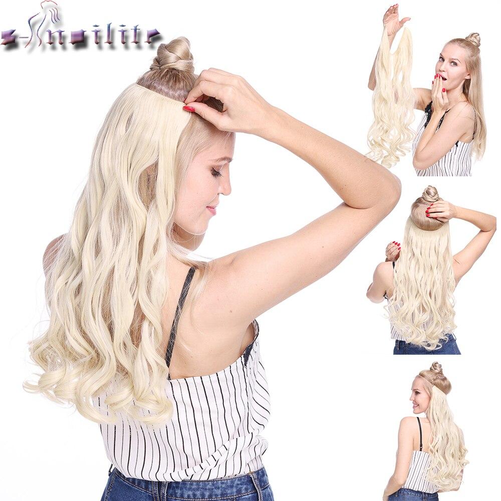 S-noilite 20 zoll Unsichtbaren Draht Keine Clip Ein Stück Halo Haar Extensions Geheimnis Fisch Linie Haarteile Welle Gerade synthetische