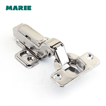 HH102C stainless steel #304 Embed steel Hinges Hydraulic Damper Buffer Cabinet Door Hinges Soft Close Furniture hinges цены
