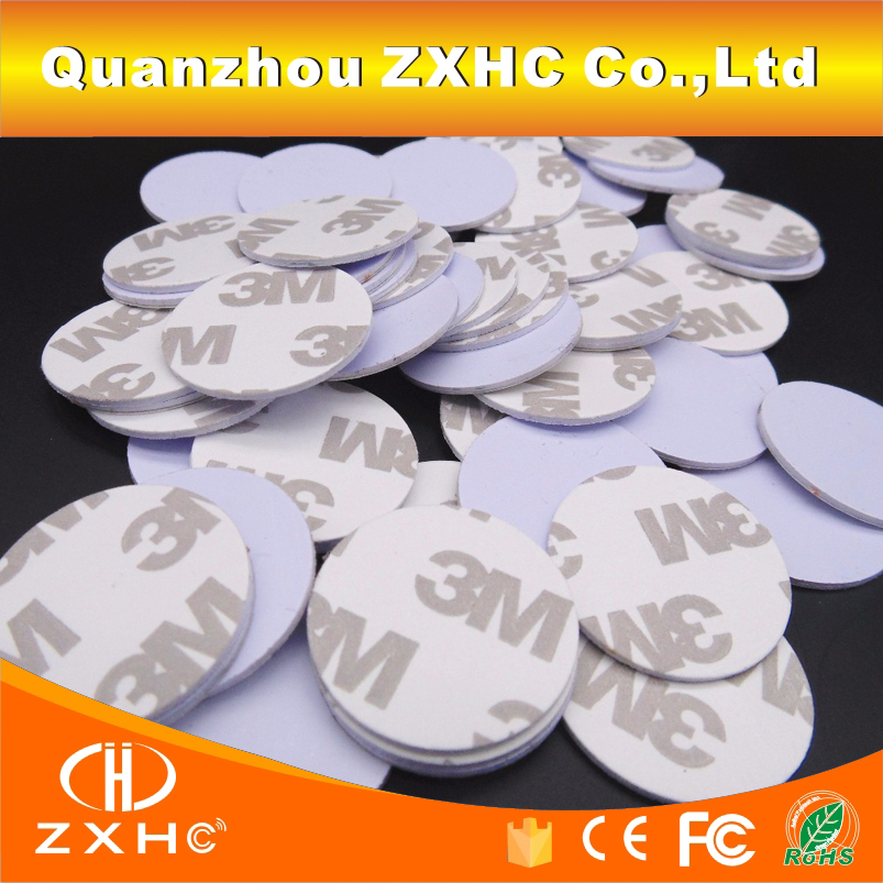 (10PCS/LOT) Ntag215 <font><b>NFC</b></font> <font><b>Tag</b></font> <font><b>Stickers</b></font> Adhesive 25mm 3M Coin Cards 888 Bytes For All <font><b>NFC</b></font> Phones image