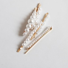 Pearl Hair Clip for Women Elegant Korean Design Snap Barrette Stick Hairpin Styling Accessories Drop Shipping Hot Sell