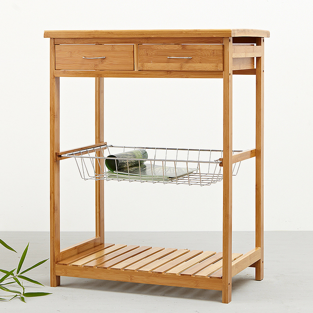 Benua Rak Kayu Bambu Meja Makan Mobil Dapur Kreatif Taman