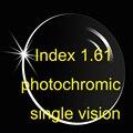 Visão única lente asférica fotossensíveis revestimentos de 1.61 AR / mais fino de / transição / cinza