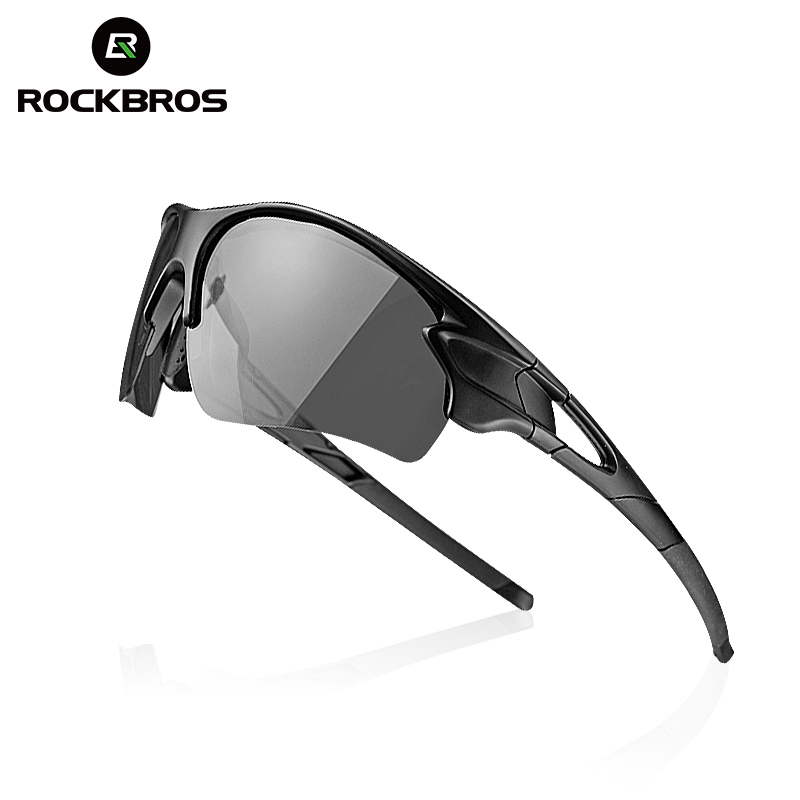ROCKBROS Polarized Photochromic Cycling Glasses Bike Glasses Outdoor Sports MTB Bicycle Sunglasses Goggles Eyewear Myopia Frame half frame male pure titanium with polarized glasses myopia glasses sunglasses night vision clip titanium frame magnet driving