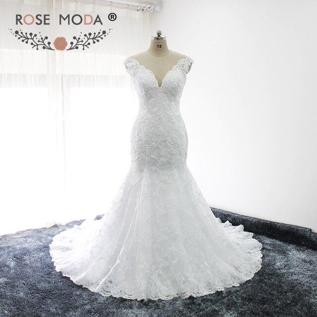 Alencon Lace Mermaid Wedding Dresses