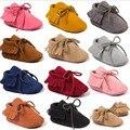 Romirus bebé niño niña bebé mocasines moccs suaves zapatos de bebe franja de Suela Blanda Zapatos del Pesebre Nueva PU Cuero Recién Nacido Primero caminantes