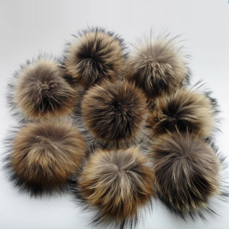 Wholesale 15cm 10pcs a lot Genuine Fur Pompoms For Knitting Skullies Beanies Caps Winter Baseball Hats Bags Garments Accessory