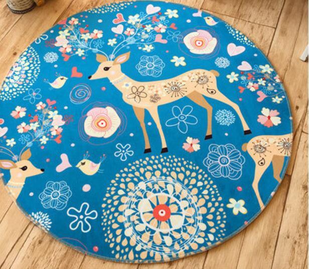 Micozy Cartoon Runde Bodenmatte Waschbar Polyester Teppich Anti Skid Dekoration Wohnzimmer Schlafzimmer Oversize