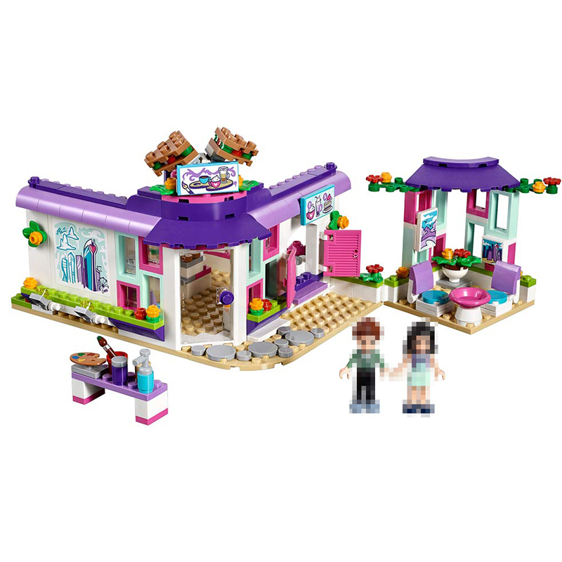 Lepin  01060 Genuine Girl Series 423Pcs The Art Cafe Set Building Blocks Bricks Educational Funny to Kids Toys Model Gifts 41336 little white dragon assembling toys educational toys girl fantasy girls beach villa 423