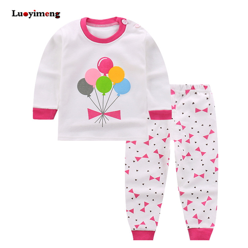 Spring Autumn 2piece   Pajamas   For Girls Cotton Baby Long-sleeves Children Clothes   Sets   Cartoon Sleepwear Kids Boys Girl Pyjamas