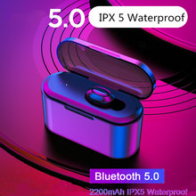 Vanniso TWS X8 True Bluetooth Earphones Wireless Earbuds Mini Waterproof Headfrees with 2200mAh Power Bank For All Phone