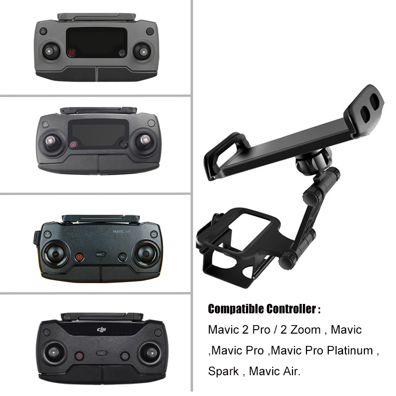 Image 2 - DJI Remote Control Holder Bracket Phone Tablet Front Bracket Holder for DJI Mavic 2 Pro DJI Mavic Air Spark Mount Clip for Pad-in Remote Control from Consumer Electronics