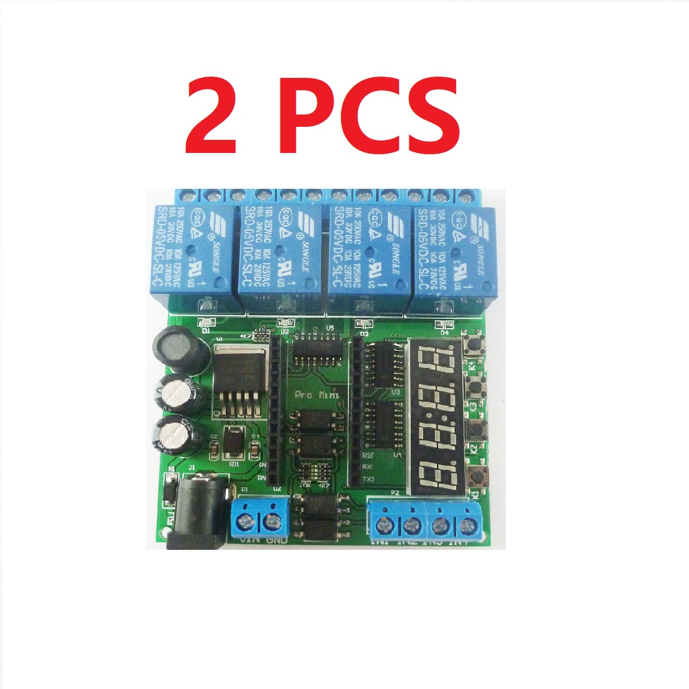 2 PCS IO22C04*2 DC 5-24V 4 Channel Pro mini PLC Board Relay Shield Module for Arduino Multifunction Delay Timer Switch Board2 PCS IO22C04*2 DC 5-24V 4 Channel Pro mini PLC Board Relay Shield Module for Arduino Multifunction Delay Timer Switch Board