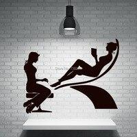 섹시한 소녀 네일 손 비닐 벽 데칼 네일 살롱 매니큐어 벽화 예술 벽 스티커 살롱 네일 숍 장식 창 스티