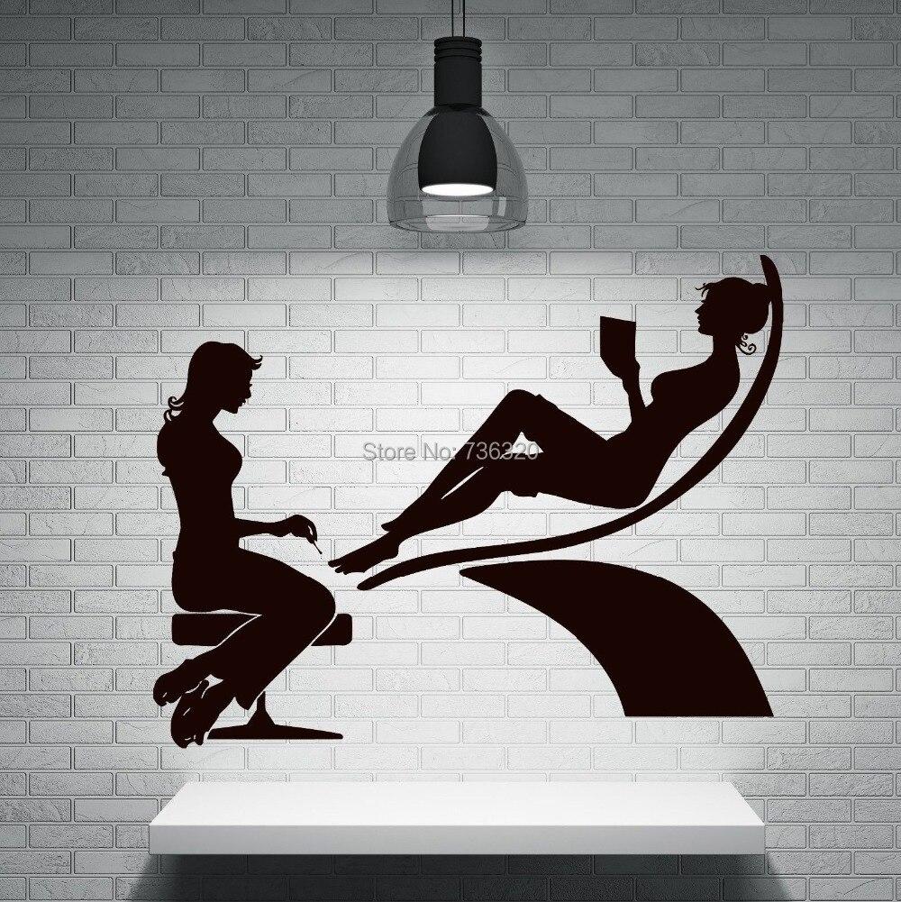 Aliexpresscom Compre Sexy Girl Mo Prego Manicure Salo De Beleza Mural Art -6990
