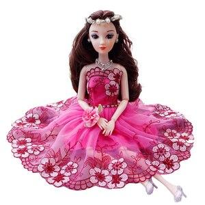 Аксессуары для платья 30 см, Свадебный комплект с платьем принцессы фиолетового павлина, кукла BJD с машиной, костюм, аксессуары для девочек