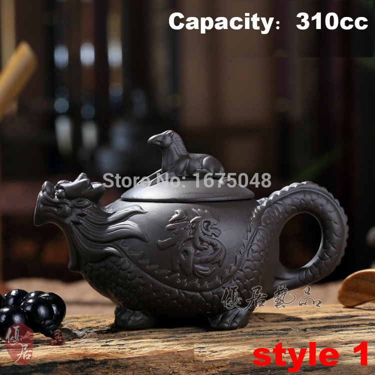 Authentic yixing teapot dragon and horse tea pot big capacity Chinese Zodiac teapot handicraft  tea set kettle kung fu teapot