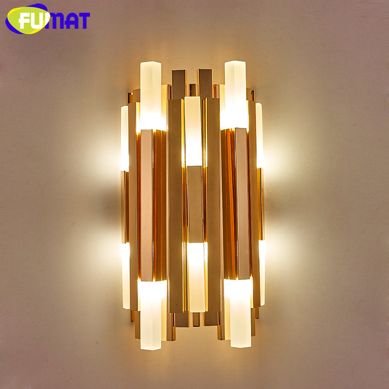 Nordic Modern Gold Wall Lamps Minimalist Creative Wall Light For Living Room Study Bedsi ...