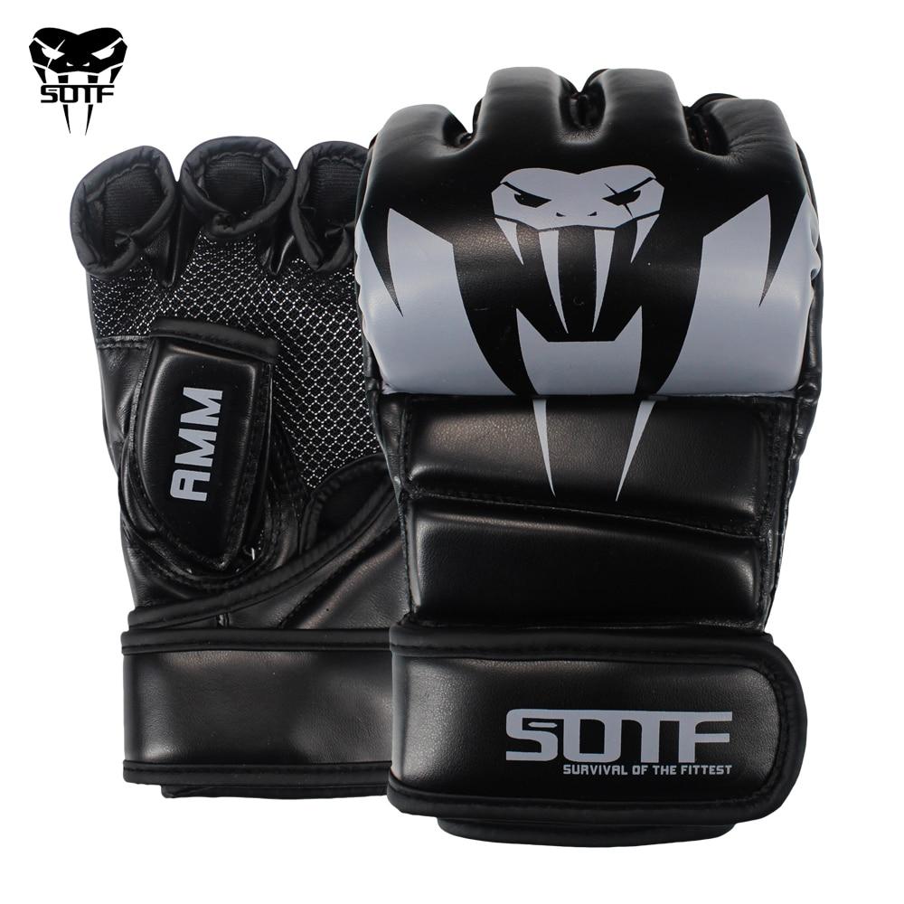 SOTF Adults MMA Venomous snake Multicolor Boxing gloves MMA Tiger Muay Thai gloves muay thai boxing fight glove Sanda pads box