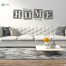 YOYOYU Vinyl Wall Decal Welcome Home Family Exquisite Pattern Poster Art Living Room Decoration Stickers FD544