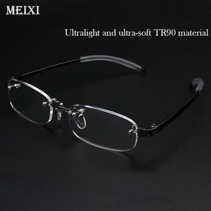 7fe7579dd2 MEIXI Rimless TR90 frame glass Myopia glasses Women Men