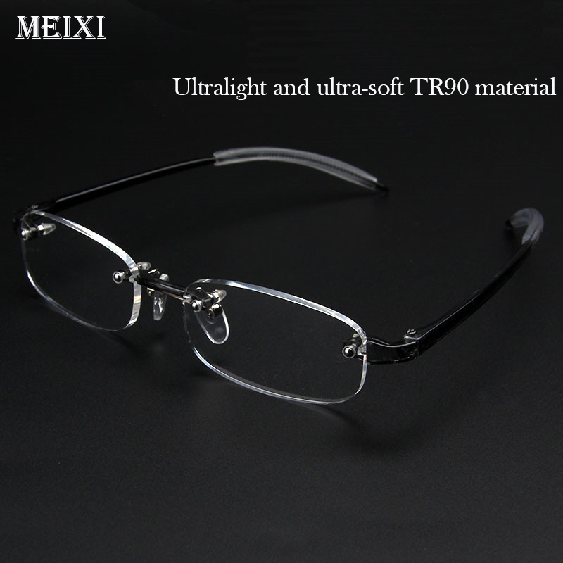 Rimless TR90 Frame Nearsighted Glass Ultralight Boxed Shortsighted Myopia Glasses Boxed  Women Men -1.0 -1.5 -2 -2.5 -3 -3.5 -4