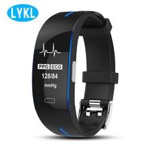 LYKL P3 Smart Band 100% Original ECG+PPG Blood Pressure Heart Rate Monitor Pedometer Sports Bracelet IP67 Waterproof