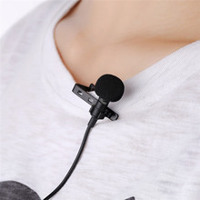 Portable Clip-on Lapel Lavalier Microphone 3.5mm Jack for Smartphone