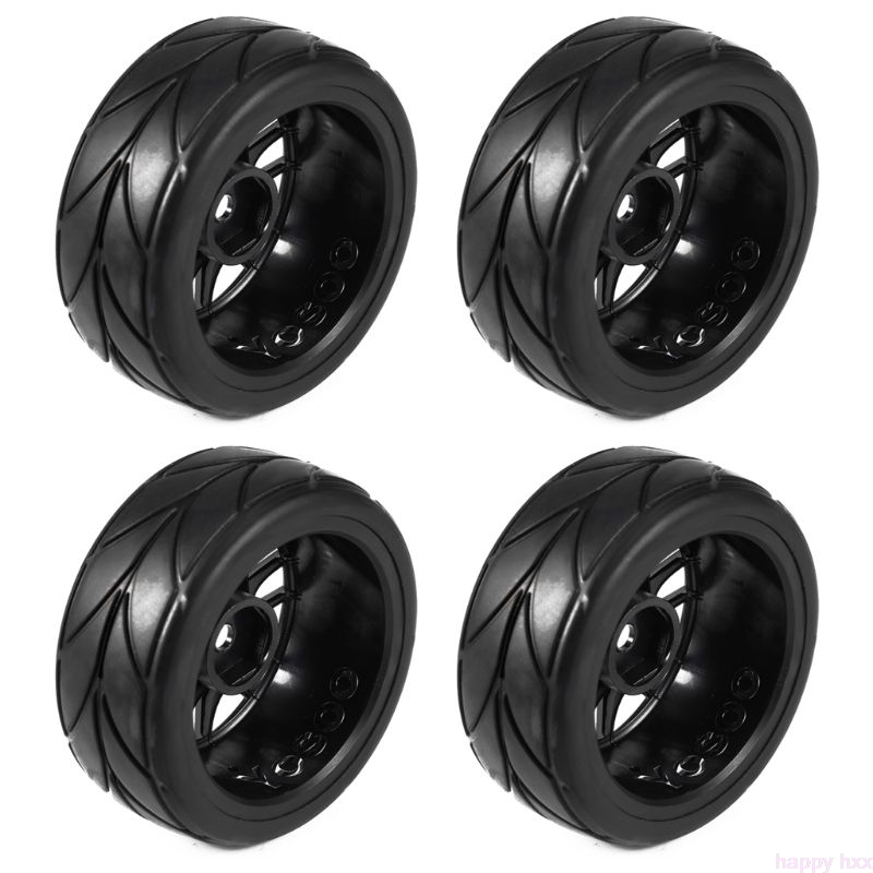 4PCS 1/10 Rubber <font><b>RC</b></font> Car Tires On Road Wheel Rim Fit For HSP <font><b>HPI</b></font> 9068-6081 Diameter 65mm New image