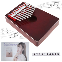 10 Key Finger Kalimba Mbira Sanza Thumb Piano Pocket Size  Metal Keyboard Pine Wood Musical Instrument