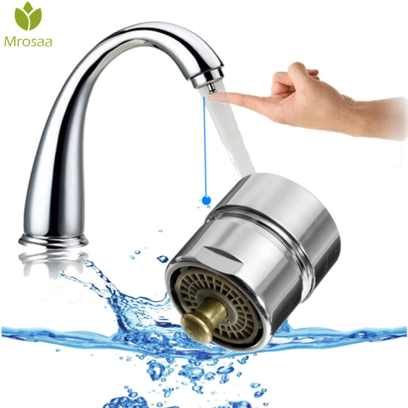 Water Saving One Touch Tap Aerator Touch Control-Valve Faucet Aerator M24x1 Male Thread Bubbler Purifier Kitchen Accessories