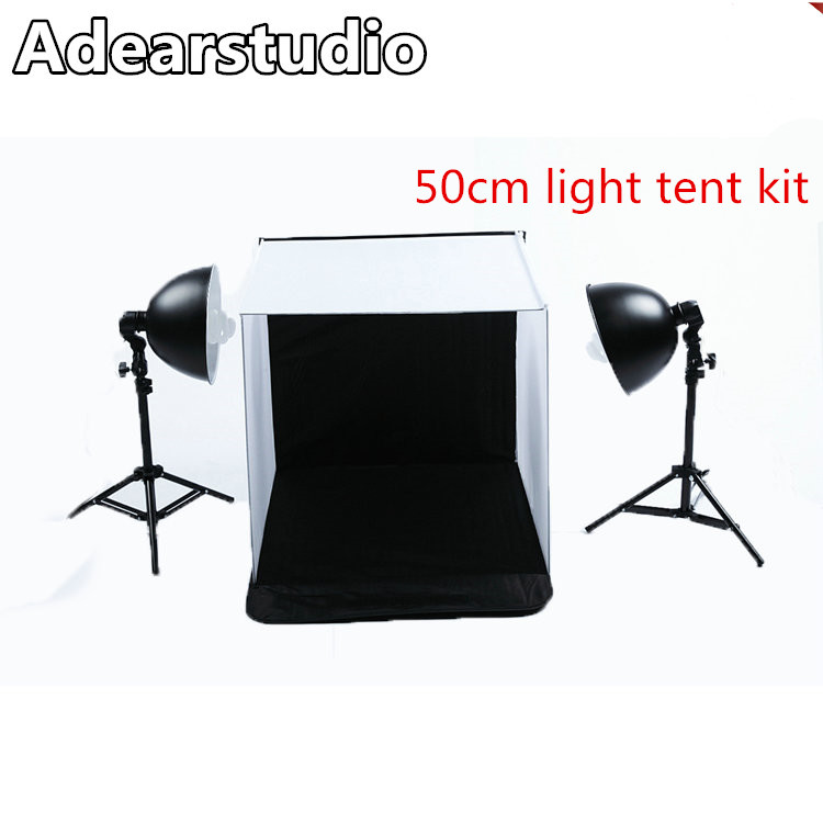 2017 Portable Photography font b Photo b font Studio 50 50cm Light box 4 Backdrops Light