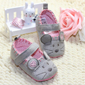 3pcs/Lot Cute Baby Girls First walkers Cotton Grey Mouse Soft with Pattern Shading Soft Baby Toldder Prewalkers Shoe PN15