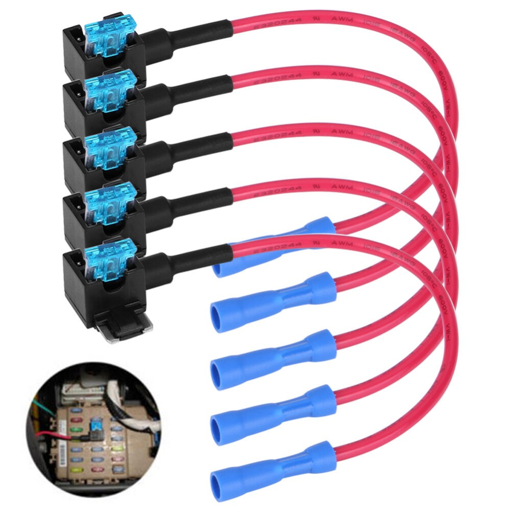 All kinds of cheap motor 12v car add a circuit fuse tap ... on