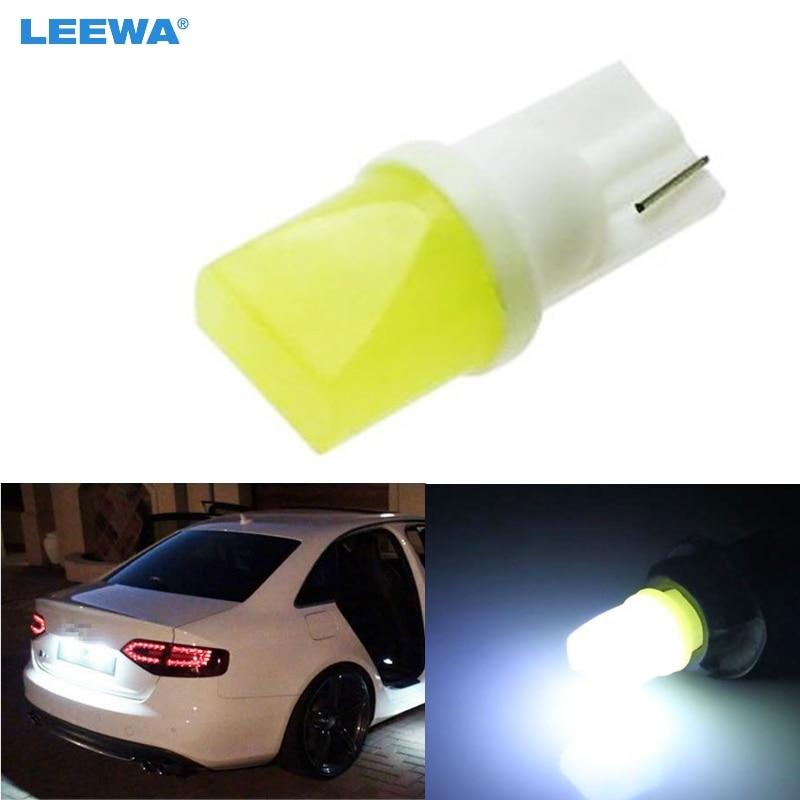 ①Leewa 4 шт. T10 W5W 168 194 SMD T10 LED белые огни Клин ...
