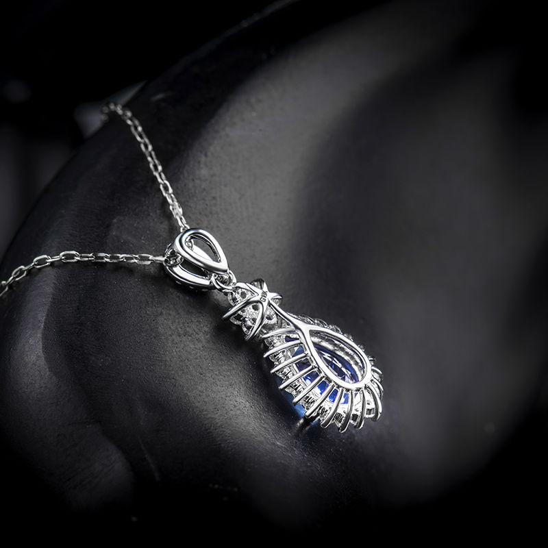 146ct aaa natural tanzanite pendants pear shape 18k white gold 146ct aaa natural tanzanite pendants pear shape 18k white gold diamond 750 gold pendant luxury tanzanite jewelry lj14d113 in pendants from jewelry aloadofball Gallery