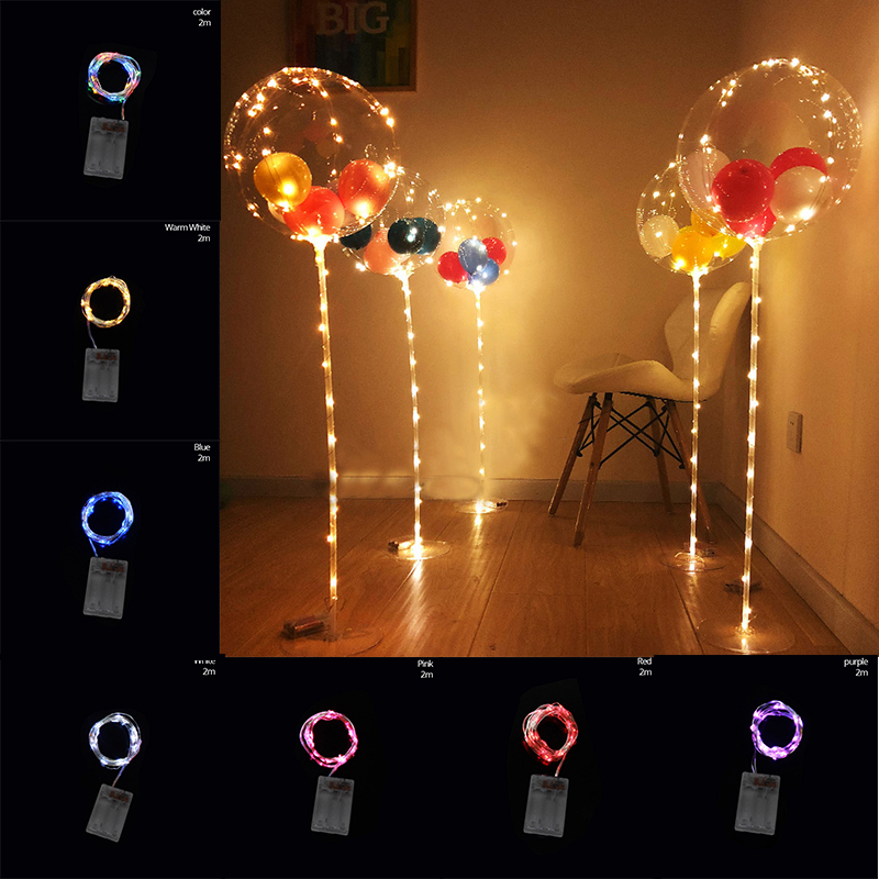 Cyuan 1 Tube Balloon Column Led Ballon Holder With Multi Color String Lights For Diy Birthday Wedding Party Bridal Shower Balls Ballons Accessories Aliexpress