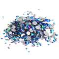Glass Gems Crystal Rhinestones For Nails ss3-ss30 And Mixed Jet AB Non Hotfix Strass 3D Nail Art Jewelry Nails Design Decoration