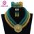 Ouro robusto Contas de Cristal Mulheres Colar de Moda Nupcial Jóias de Casamento Beads Africanos Jóias Set 2017 Frete Grátis ABF470