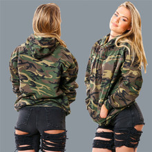 2016 scorching model clothes girls's winter camouflage ms hooded thickening fleece tops