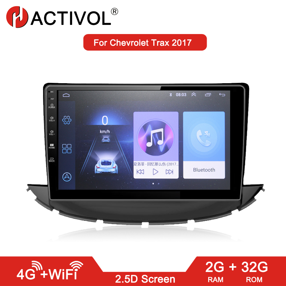 HACTIVOL 2G 32G Android 8 1 Car radio stereo for Chevrolet Trax 2017 car dvd player