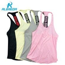 Albreda Для женщин Спортивный жилет Профессиональный Фитнес Training Йога Бег жилет быстросохнущие майка Одежда 4 вида цветов