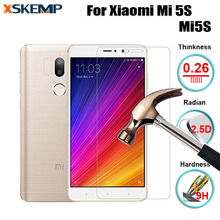 LCD Premium Tempered Glass For Xiaomi Mi 5S Mi5S No Fingerprint Ultra-thin 2.5D Arc Edge Screen Protector Protective Cover Film