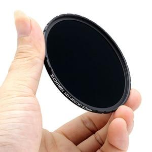 Image 4 - Zomei optyczny szklany filtr Slim HD ND1000 52/58/67/72/77/82mm filtr kamery 10 stop wielokrotnie powlekane neutralna gęstość do Canon Sony
